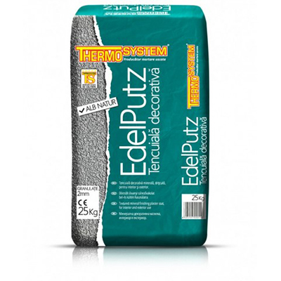 Decorativa edelputz thermosystem  alb natur 25kg
